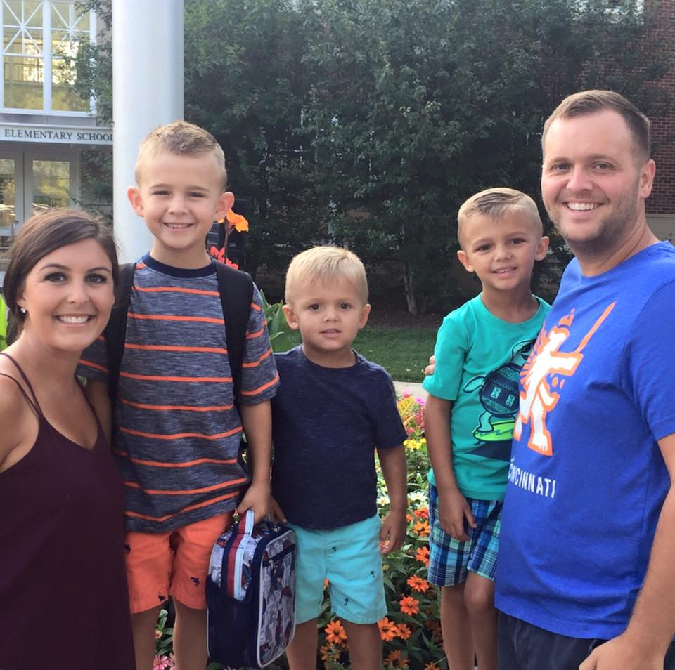 Cain Family First Day of School